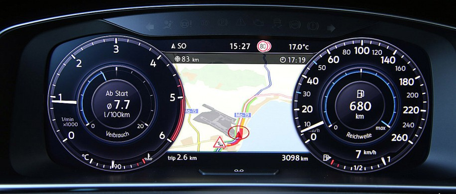 Volkswagen Golf 7 Digitale Snelheidsmeter